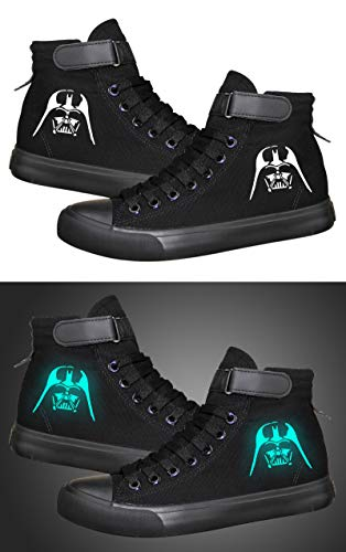 Star Wars Darth Vader White Soldier Sith Empire Galactic Empire Cosplay Shoes Canvas Shoes Luminous -