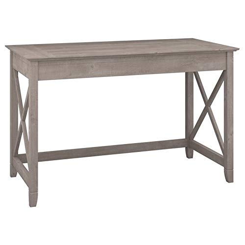 Bush Furniture Key West Collection 48W Writing Desk in Washed Gray (Best In The West Furniture)