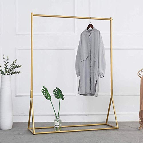 (Industrial Pipe Clothing Rack Gold Garment Rack Pipeline Vintage Clothes Rack for Bedroom Living room Cloth Store)
