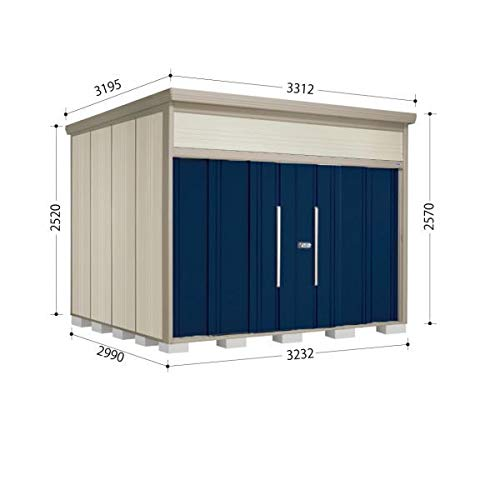 タクボ物置 JN/トールマン JN-3229 一般型 標準屋根 『屋外用中型大型物置』 ディープブルー B07MTZXTG4