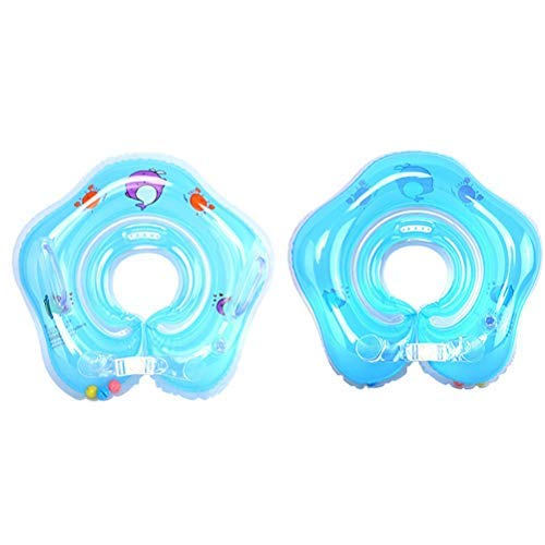 Bath Pillows - 1pc Baby Float Ring Inflatable Born Infant Neck Swimming Circle - Center Pool Play Holder Float Inflatable Ring Drink Bath Pillows Inflatable Infant Neck Float Swim Ring Baby F