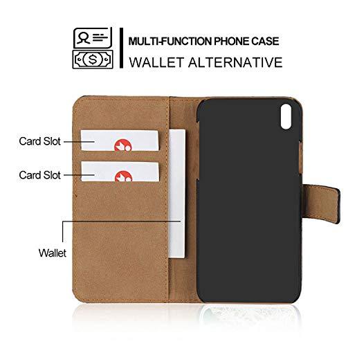 Smart Fitsport Cover iPhone -Custodie per iPhone X/XS 5/5S 5C 6/6s 6 Plus 7/8 7 Plus/8 Plus Portafoglio Custodia Pelle (Marrone, for iPhone 6/6s)