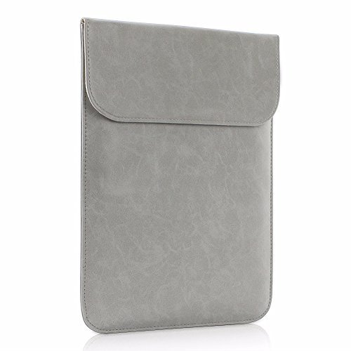 All-inside Gray Synthetic Leather Sleeve for MacBook Air 13