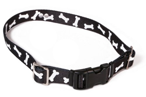 - Replacement Receiver Collar Straps For All Brands Electric Dog Fences | Black With White Bones | PetSafe, Invisible Fence, More (Up To 18