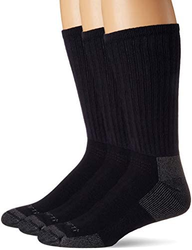 Carhartt Men's 3-Pack Standard All-Season Cotton Crew Work Socks