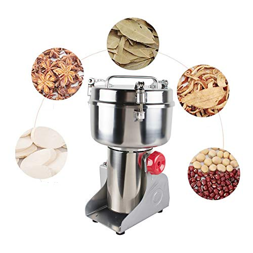 Stainless Steel Electric Herbal Medicine Grinder 1000g Portable Household Chinese Medicial Grains Spice Powder Milling Machine Kitchen for Mom, Wife by Fencia (Image #1)