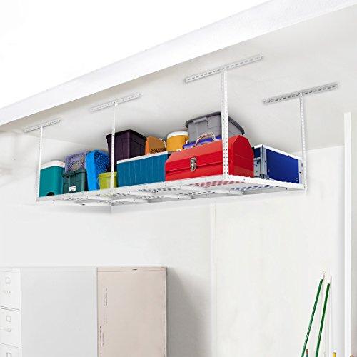 FLEXIMOUNTS (2 4x8 Rack Package Heavy Duty Overhead Garage Adjustable Ceiling Storage Rack, 96'...