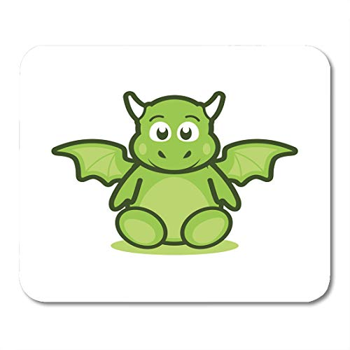 (Boszina Mouse Pads Asset Colorful Adorable Cute Baby Dragon Mascot Animal Beast Mouse Pad for notebooks,Desktop Computers mats 9.5