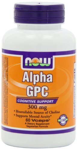 Now Foods Alpha Gpc 300mg, Veg-Capsules, 60-Count (Pack of 3)