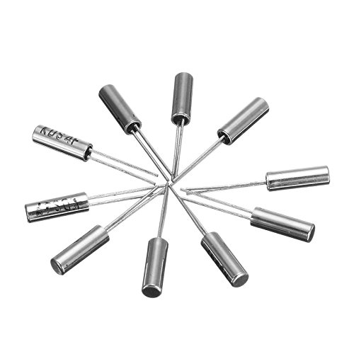 20 Piece 32.768 KHz Uxcell a14073000ux0185 32.768K Electronic Crystal Oscillators 3 mm x 8 mm Silver Tone