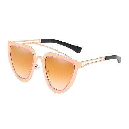 XINGMU Nuevas Gafas De Sol para Hombres Mujeres Espejo Oval ...