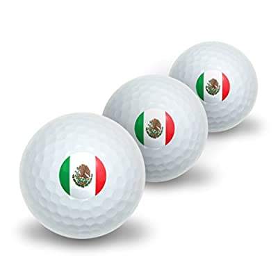 Mexico Mexican Flag Novelty Golf Balls 3 Pack