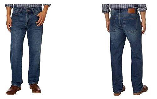Weatherproof Vintage Men's Fleece-Lined Classic Straight Leg Jeans, Medium Vintage Wash, 34x30 ()