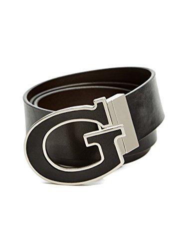 Guess Buckle Closure Belt - GUESS Men's Reversible G Buckle Belt