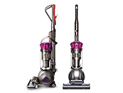 The Dyson Ball Multi Floor Origin upright has a self-adjusting cleaner head that automatically adjusts between carpets and hardfloors â sealing in suction. The bristles on the brush bar have been made shorter and stiffer allowing deeper carpet penetr...