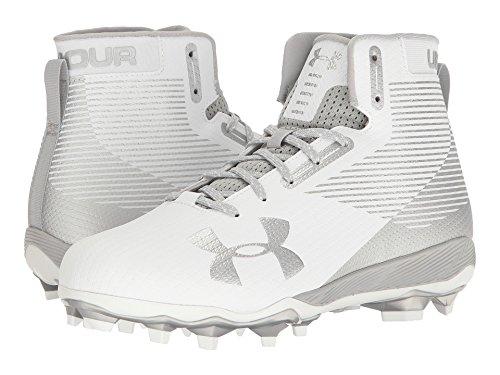 確認してください同様の引退する(アンダーアーマー) UNDER ARMOUR メンズフットボール?アメフトシューズ?靴 UA Hammer MC White/Metallic Silver 8 (26cm) D - Medium