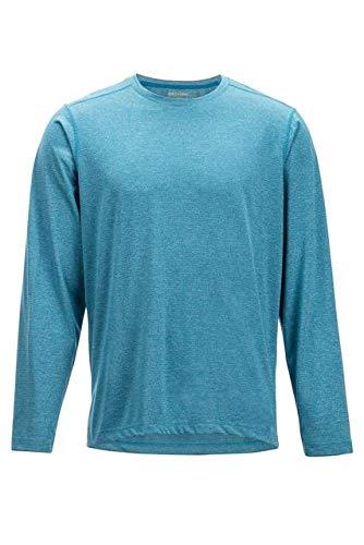 ExOfficio Men's BugsAway Tarka Long Sleeve Hiking Shirts, Dk Aegean, Large