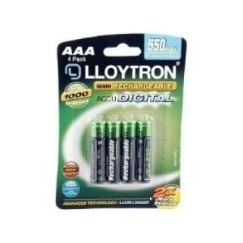 Amazon.com: Lloytron- Aaa 550 Mah Rechargeable Batteries