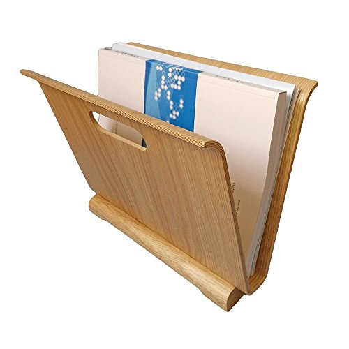 [Aitsite Oak Wood Magazine Holder Wood Magazine Display Racks Brochure Display Stands File Folder Holders (Oak)] (Magazine Display Finish)