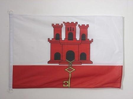 AZ FLAG Bandera Nautica de Gibraltar 45x30cm - Pabellón de ...