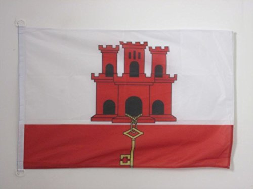 ENGLISCHE BOOTSFAHNE 30 x 45 cm Marine flaggen Top Qualit/ät AZ FLAG BOOTFLAGGE Gibraltar 45x30cm