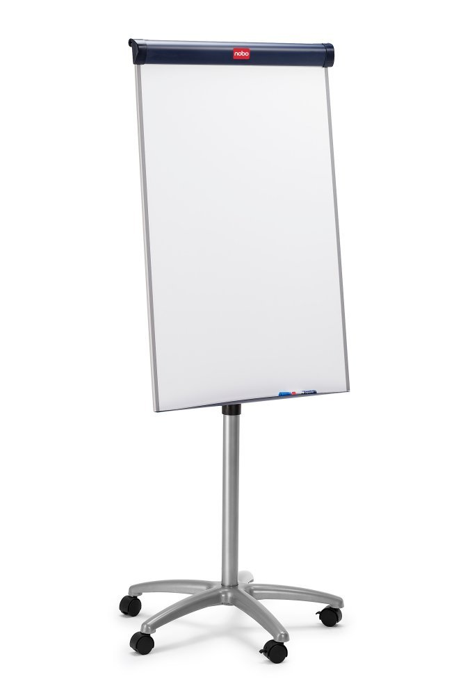 fabulous nobo barracuda mobile easel whiteboard flipchart with magnetic and x mm white. Black Bedroom Furniture Sets. Home Design Ideas