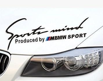 Black KUNFINE 1PCS Sports Mind Power Autocollant pour Phare de Voiture Produced by M Sport Noir Rouge