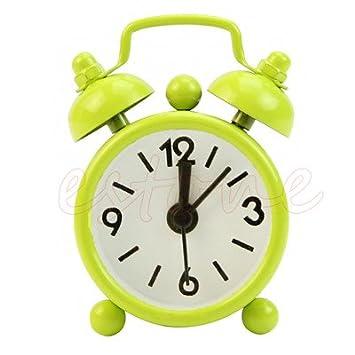 Alarma Reloj Despertador para el dormitorio - Popular esfera redonda número escritorio reloj despertador para niños niña decoración de casa - Reloj ...