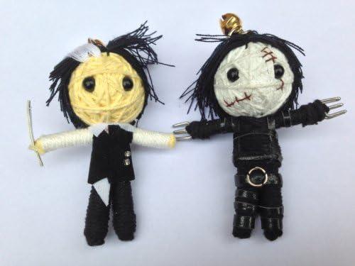 Amazon.com: Mundo de cuerda – Cadena de llavero con muñeca ...