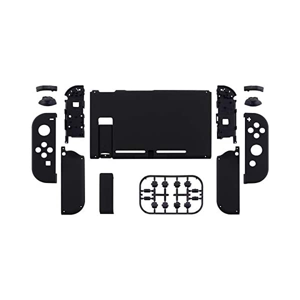 eXtremeRate Soft Touch Grip Back Plate for Nintendo Switch Console, NS Joycon Handheld Controller Housing with Full Set… 2