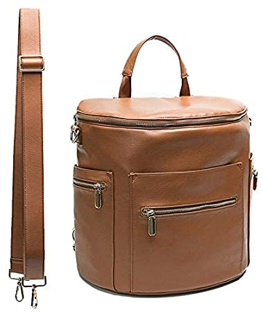 Amazon.com   Leather Diaper Bag Backpack by Miss Fong 6f93c07318caf
