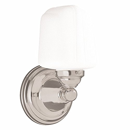 Edison Collection 1-Light Vanity Light - Satin Nickel Finish with Opal Matte Glass Shade