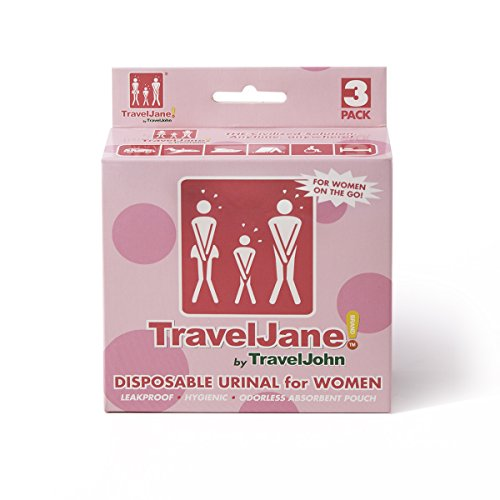 TravelJohn Disposable Urinal Packs 4 38 Inch product image