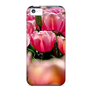 Case88me Iphone 5c Well-designed Hard Cases Covers Pink Spring Field Protector