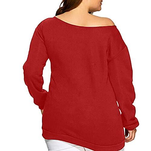 Toimoth Women Long Sleeve Halloween Pumpkin Face Sweatshirt