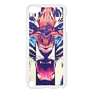 DIY Tiger Roar Cross Phone Case, DIY Hard Back Shell Case for ipod touch 5 with Tiger Roar Cross (Pattern-7)
