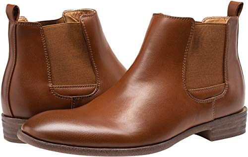 Pictures of JOUSEN Men's Chelsea Boots Elastic Formal Casual Chelsea Boots 10 M US 2