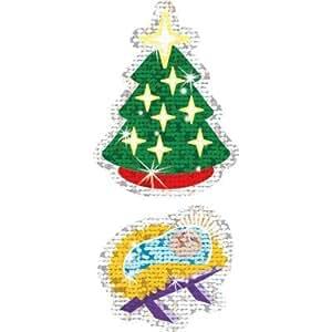 Christmas Symbols Sparkle Stickers - Large