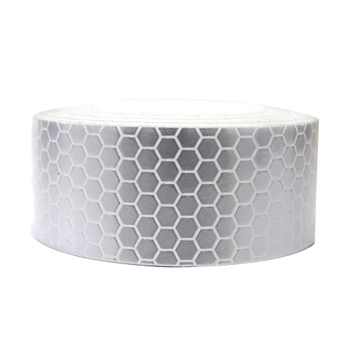 Reflective Tape White 2?X9.8? For Trucks Trailers Car Park Traffic Warning Caution Conspicuity Tape Waterproof Self-Adhesive Reflector Tape-Reflective Tape 1 PCS