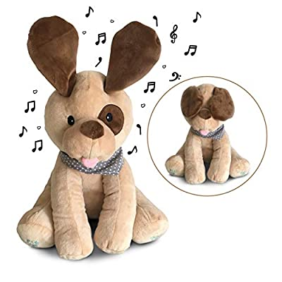 Plush Peek-A-Boo Puppy Dog Toy for Toddlers, Babies, Infants - Singing Interactive Stuffed Animals for Boys, Girls - Soft Musical Toys for Kids - Sings, Plays Games - Adorable