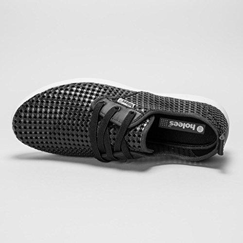 holees plimp Herren Memory Foam leicht Schlupfhalsband plimpsole Schuhe, verschiedene Farben und Größen zur Auswahl Schwarz