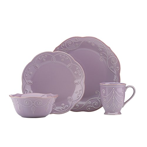 Lenox 843833 French Perle - Violet, 4 Piece Place Setting