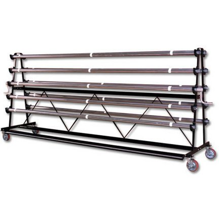 Gym Floor Cover Mobile Storage - Gym Floor Cover Mobile Storage Rack - 6 Rollers