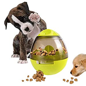 IQ Treat Ball,Interactive Food Dispensing Ball for Dogs Cats Snack Dispenser Tumbler Food Feeder Pet Toy Click on image for further info.