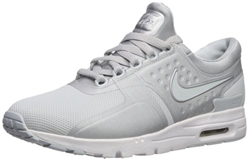 Price comparison product image Nike Air Max Zero Women's Running Shoes, Pure Platinum/Pure Platinum, 8 B(M) US