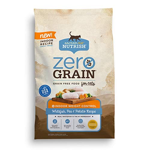 Rachael Ray Nutrish Zero Grain Natural Dry Cat Food, Grain Free, Whitefish & Potato Recipe, 12 Lbs