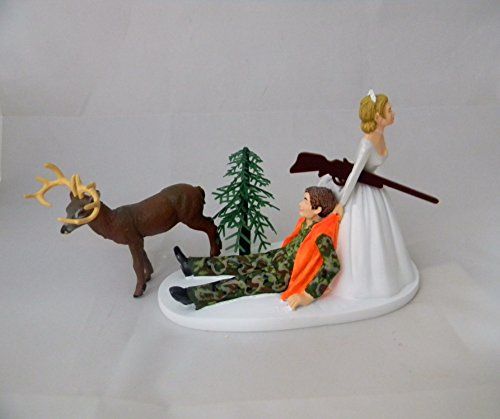 Wedding Reception Party Camo Deer Hunter Hunting Cake -
