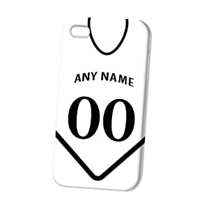 Case Fun Apple iPhone 4 / 4S Case - Vogue Version - 3D Full Wrap - Personalised Swansea City Football Shirt, Any Name, Any Number