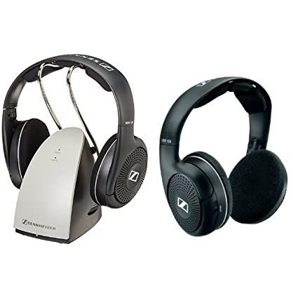 1e97f7f177a Amazon.com: Sennheiser RS120 On-Ear Wireless RF Headphones with Charging  Dock and HDR120 Supplemental HiFi Wireless Headphone Bundle: Home Audio &  Theater