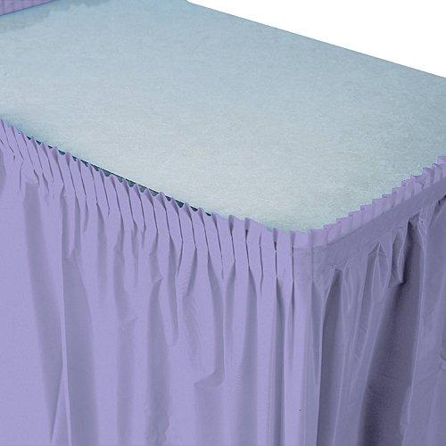 Luscious Lavender Plastic Table Skirt